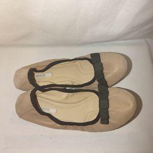 Geox Ballet Flats Rose Gold Leather Bow Comfort 36